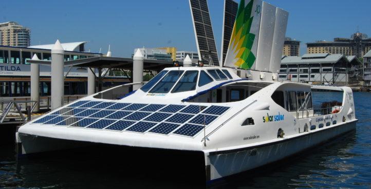 barco solar.